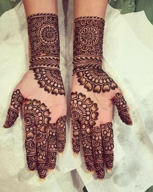 Arabic Mehndi Designs For Bride