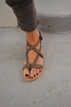 Brown Strappy Sandals For Women