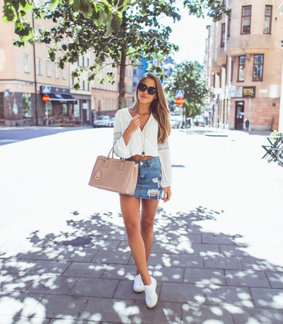 White Sneakers Causal summer for women