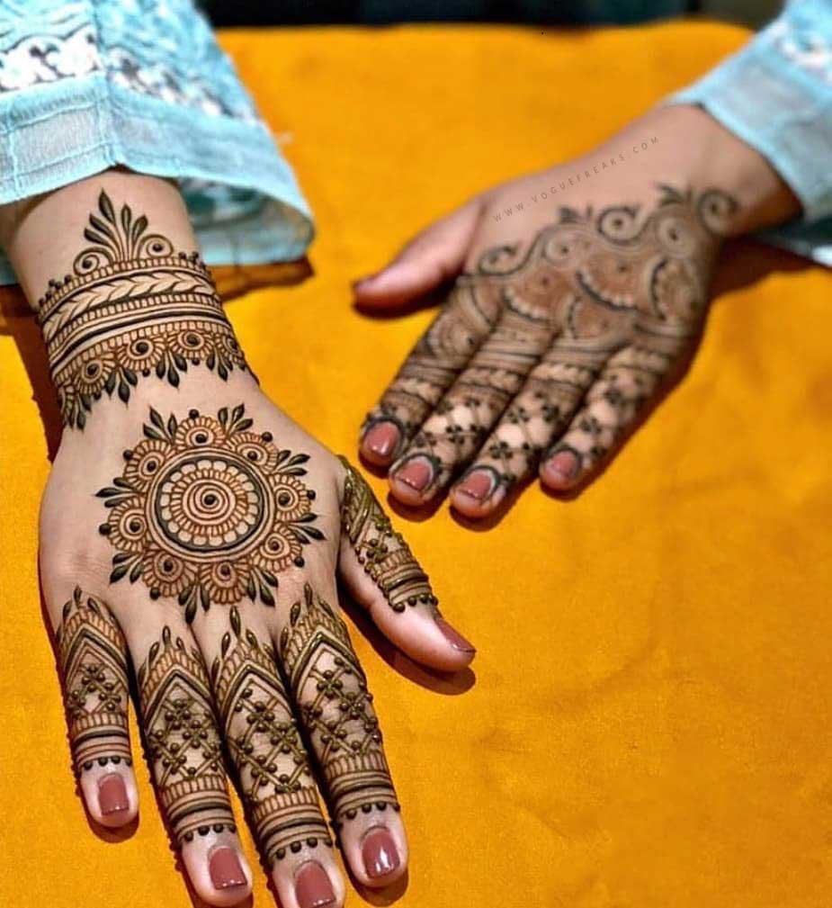 new style mehndi design for eid