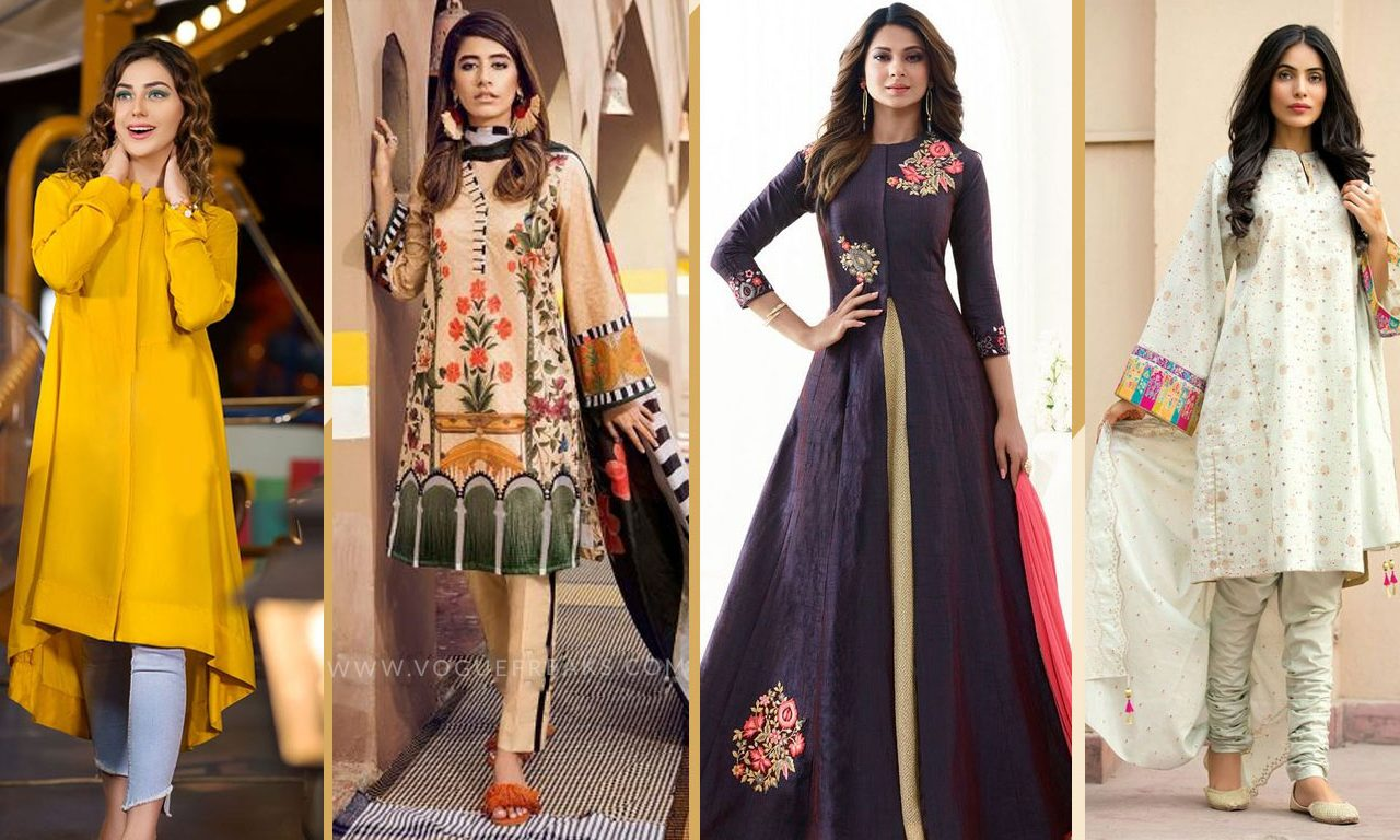 accf4a4415d Home Fashion Latest Eid Dress Trends For Girls 2019. latest-eid-dress-trend