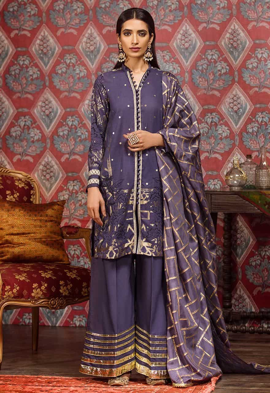 Cross Stitch Crown Blue For Eid