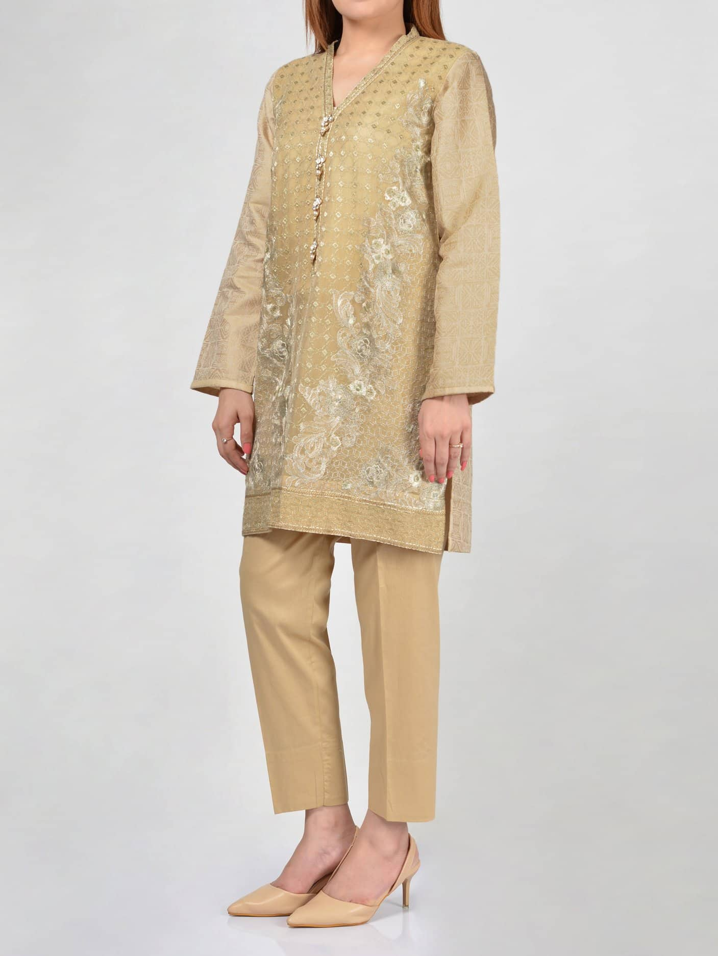 LimeLight Embroidered Jacquard Shirt For Eid