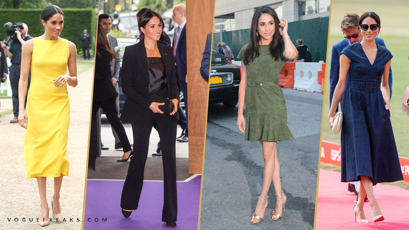 Meghan Markle's style collage