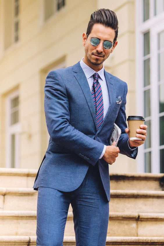 Dapper Blue Cocktail Attire for men