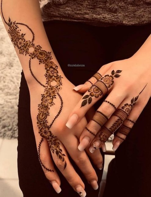 Simple Mehndi Design for wedding
