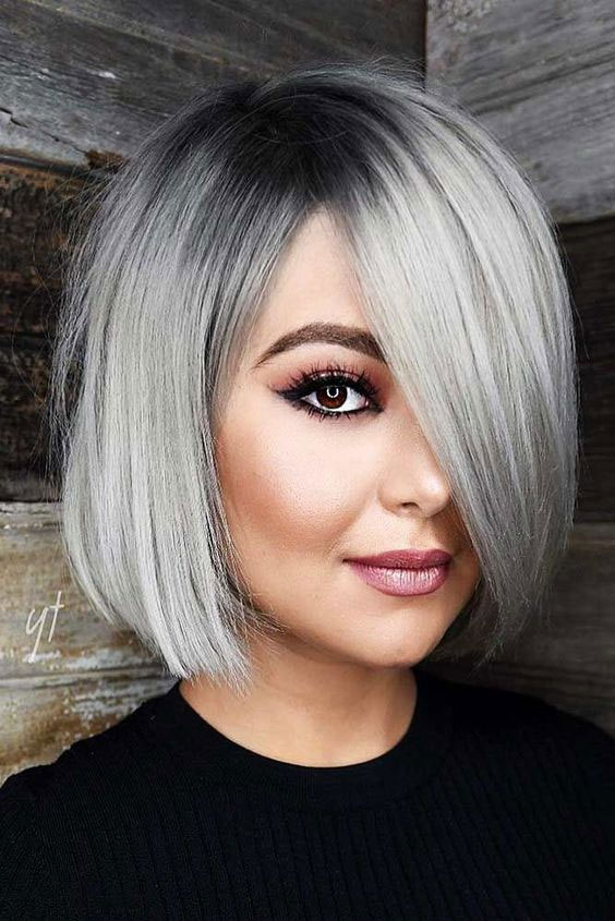 Grey Hairstyle for girl