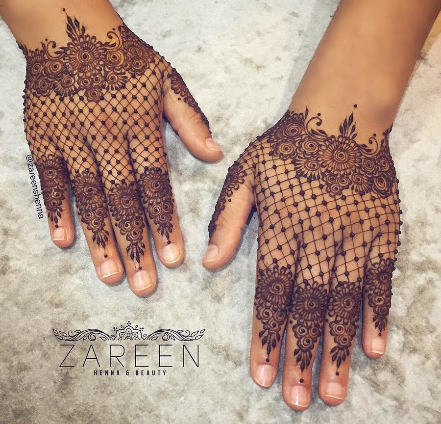 gloves henna design