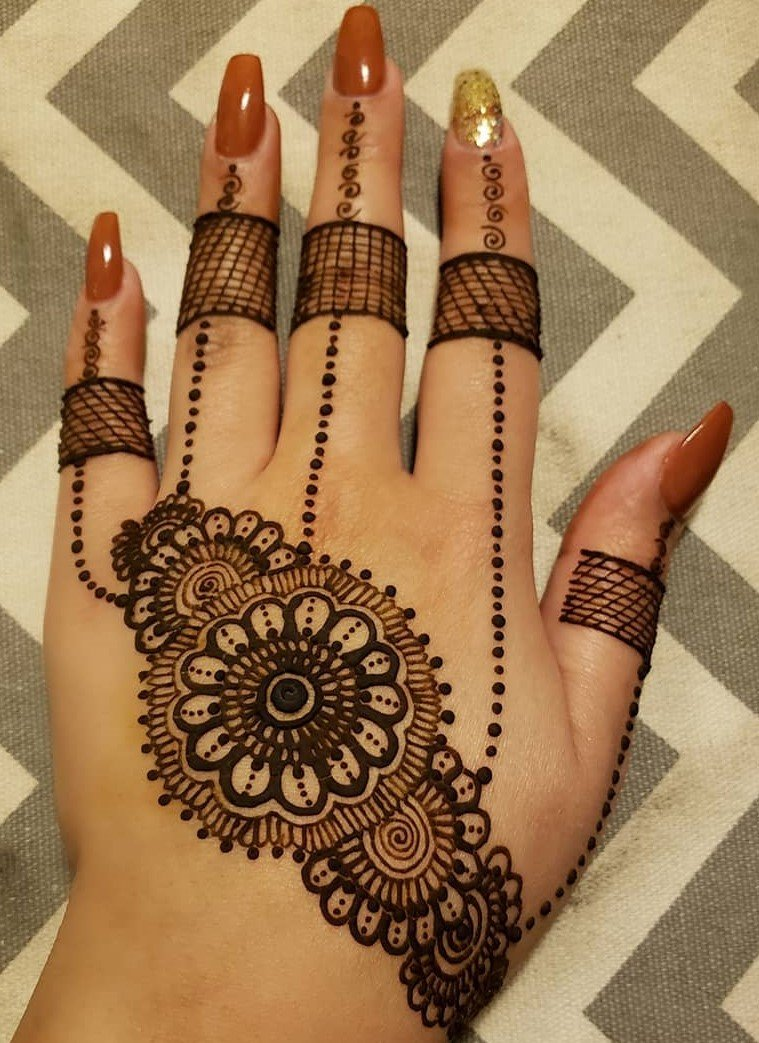 jewelry mehndi designs for hands