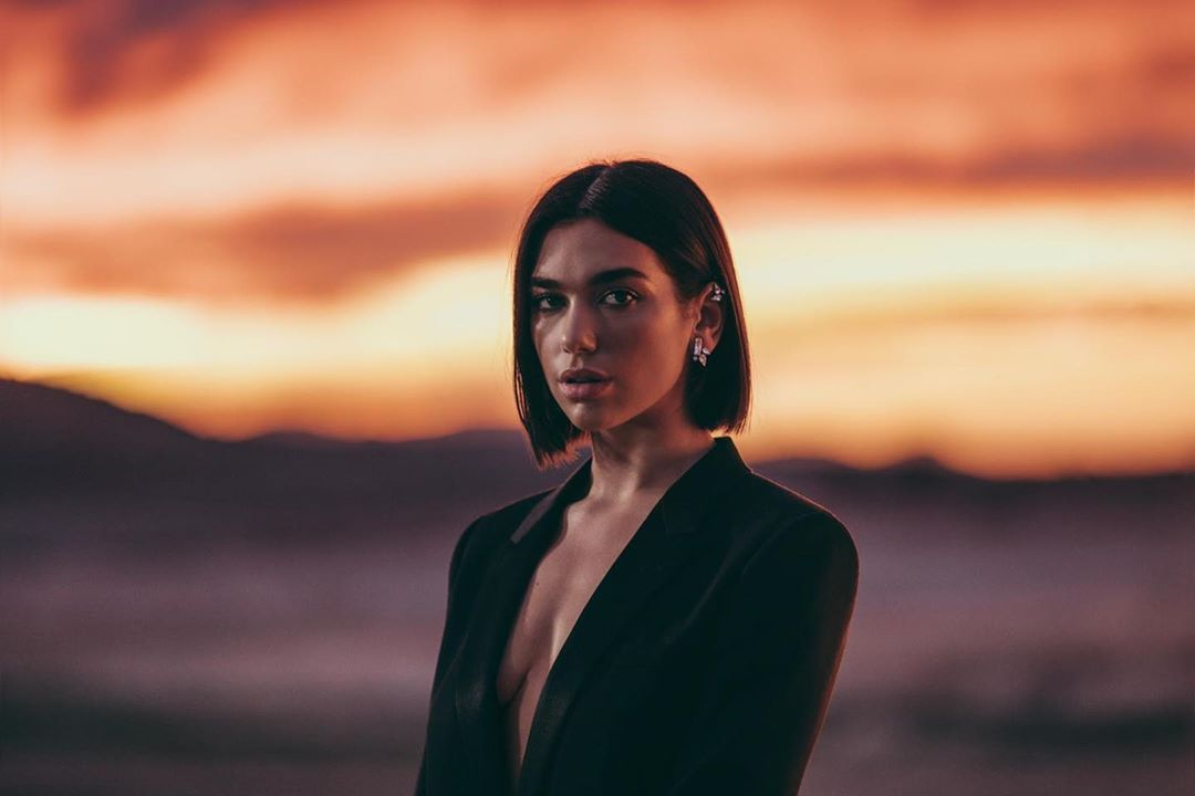 dua lipa bob haircut