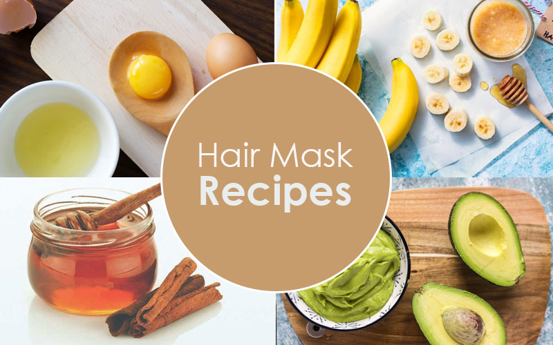 5 Hair Mask Recipes for Dry Damaged Hair