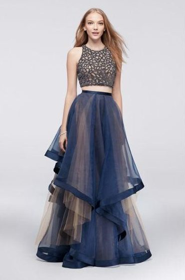 organza dress with layers