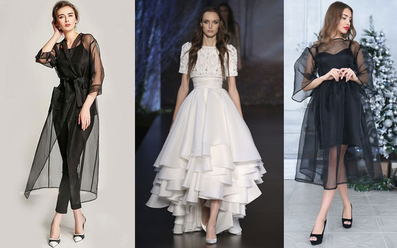 How to Master Wearing the Organza Trend