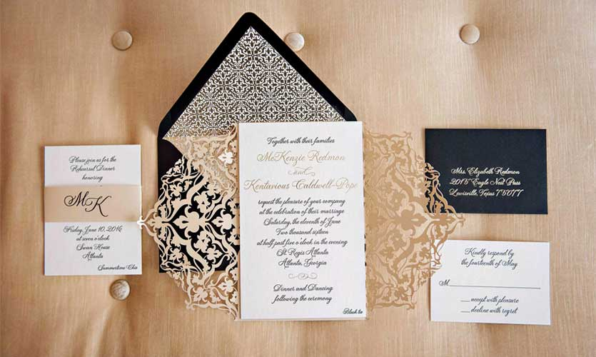 See the Latest Trends in Custom Wedding Invitations