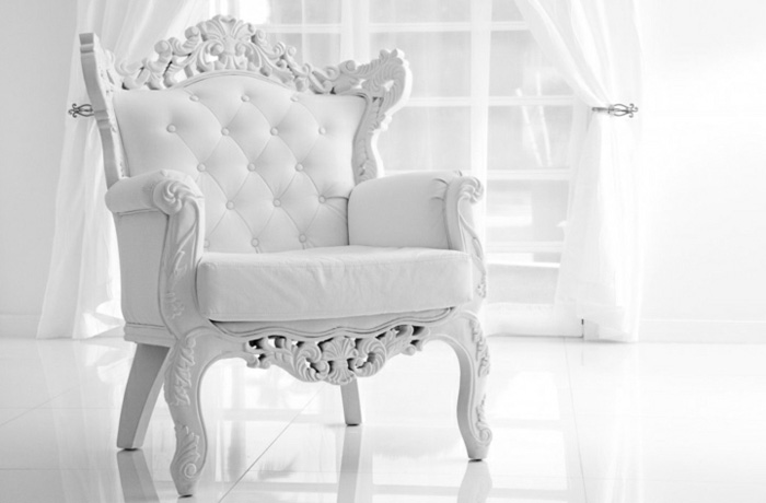 White Baroque Design